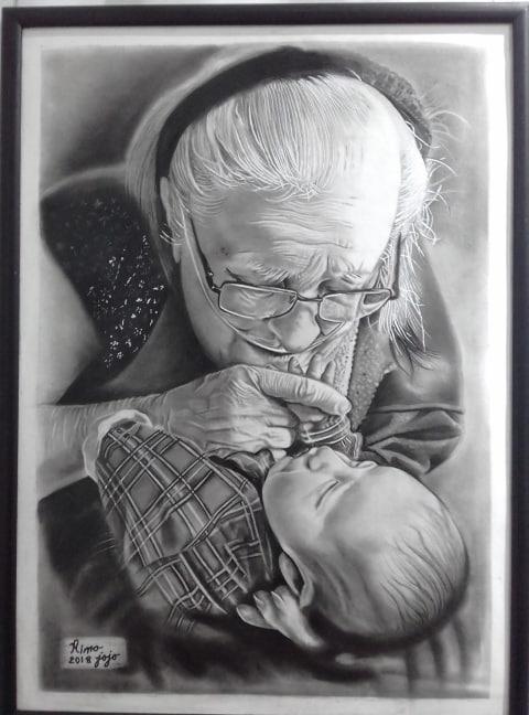 Photo of رسم فحم بواسطة أ / ريهاء بهاء