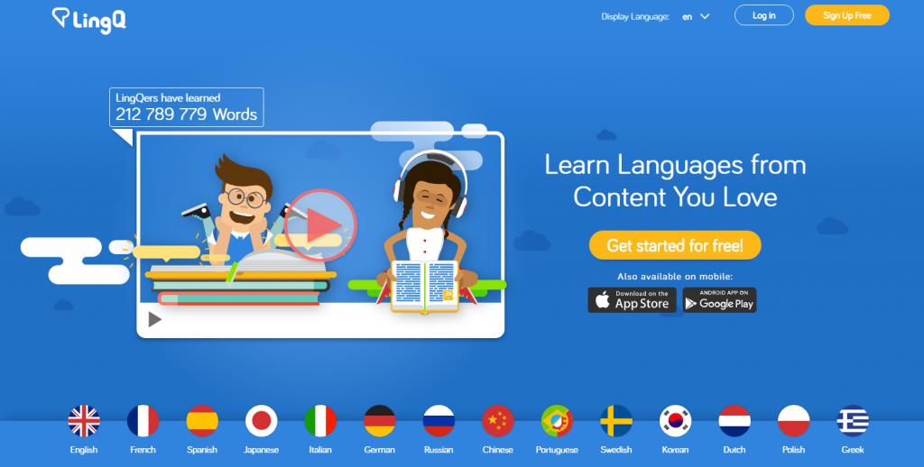 موقع LingQ  أفضل وأهم المواقع في تعلم اللغات
