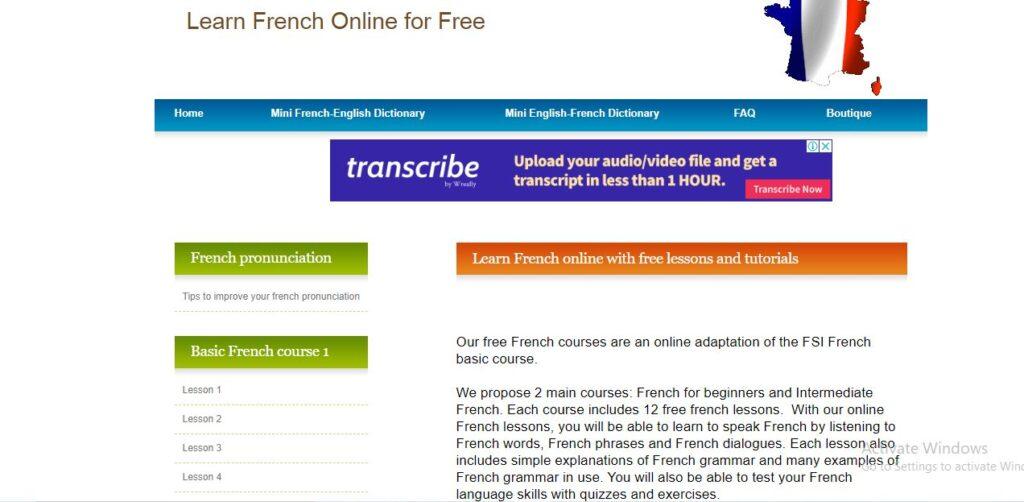 تطوير اللهجة الفرنسية
